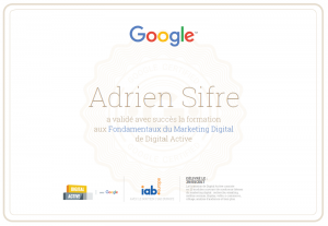 Certification digital marketing google