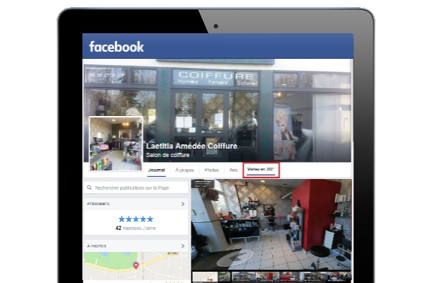 Visite virtuelle Google Business view - Intégration sous facebook
