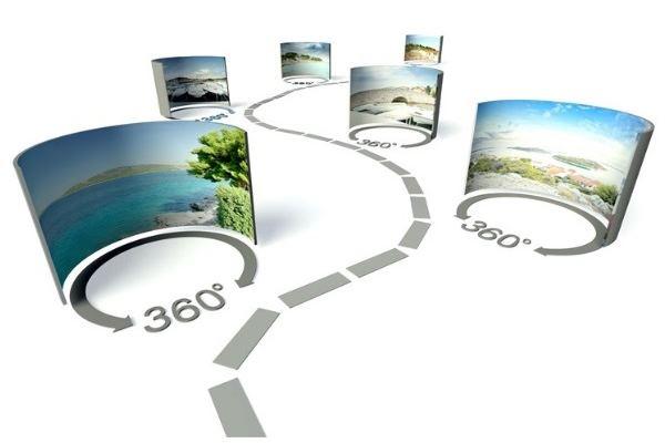 Une visite virtuelle composée de photos à 360 degrés