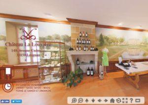 Mise en avant des produits (bouteille de vins) par la visite virtuelle personnalisée