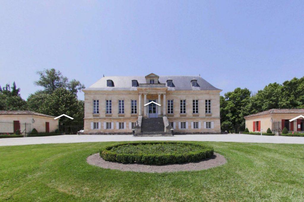 Exemple de visite virtuelle pour les châteaux et domaines